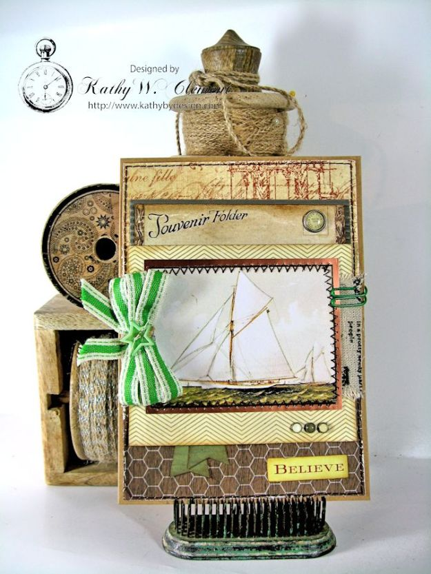 Sailboat Card 02 Masculine Creativity Kit