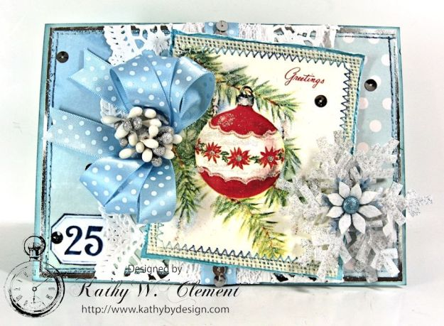 Kathy by Design/Blue Christmas Card