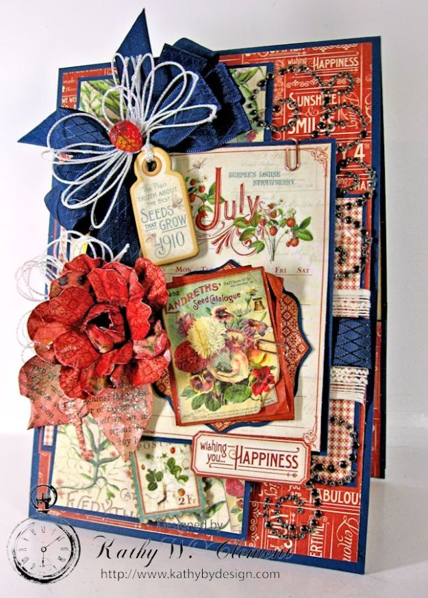Kathy by Design/Time to Flourish July Pocket Card