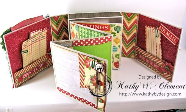 Pollys Paper Christmas Creativity Kit altered art box 05