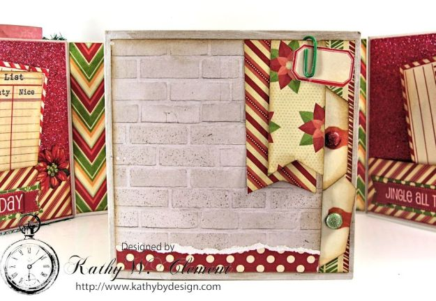 Pollys Paper Christmas Creativity Kit altered art box 06