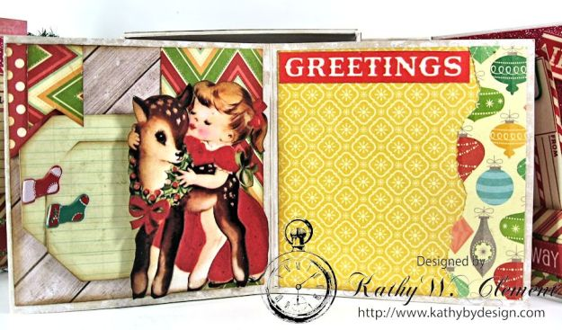 Pollys Paper Christmas Creativity Kit altered art box 08