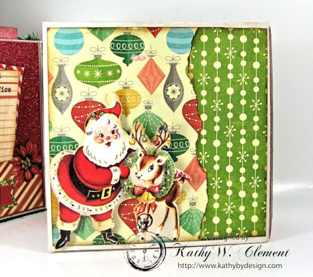 Pollys Paper Christmas Creativity Kit altered art box 11