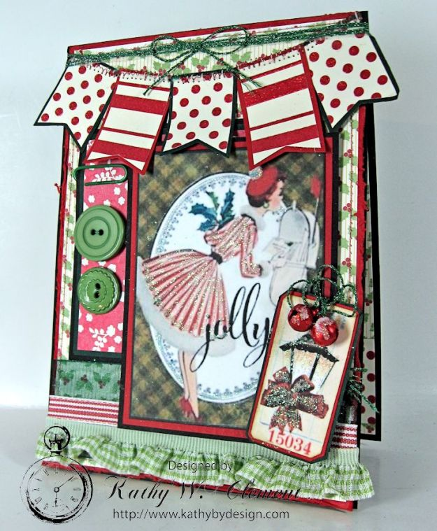 Pollys Paper Christmas Ladies Banner 01