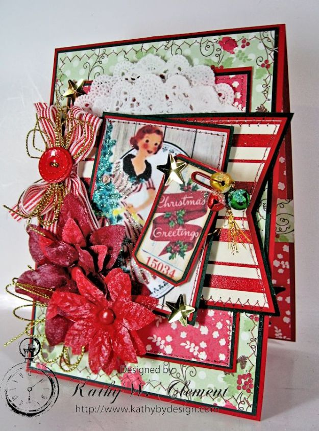 Pollys Paper Christmas Ladies Poinsettia 01