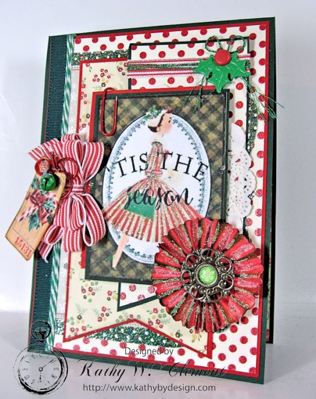 Pollys Paper Christmas Ladies Rosette 01