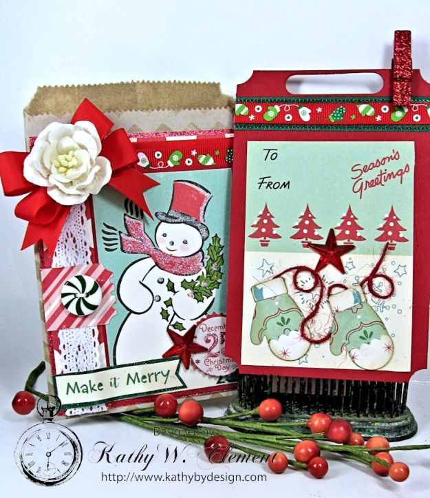 Christmas Gift Card Tags in Bags 02