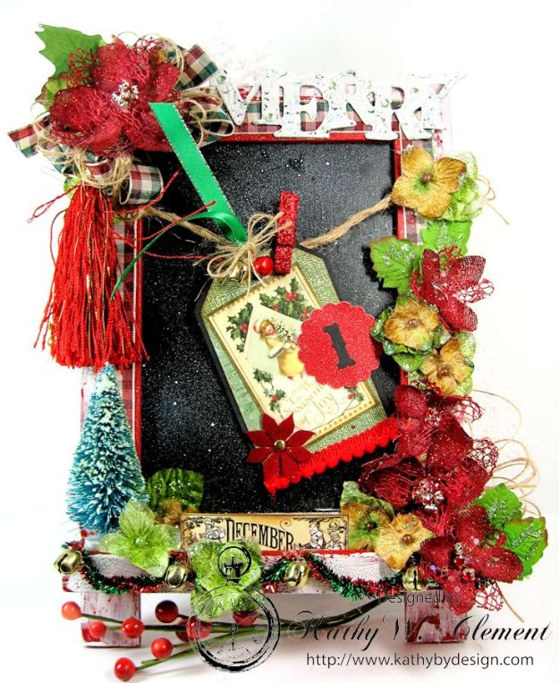 Kathy by Design December Countdown Chalkboard for Crafty Secrets 01a