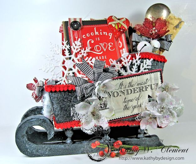 Kathy by Design/Santas sleigh recipe holder for CCB 01