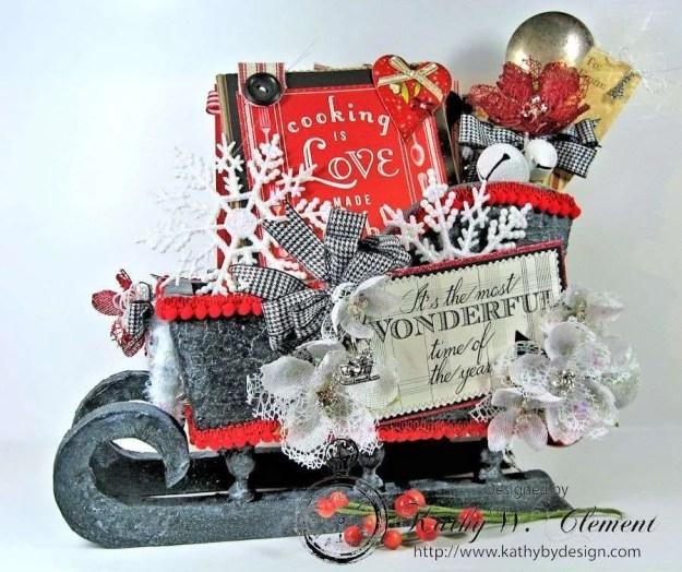 Kathy by Design/Santas sleigh recipe holder for CCB 01