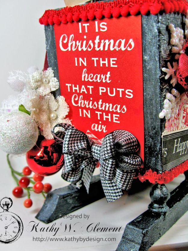 Santas sleigh recipe holder for CCB 03