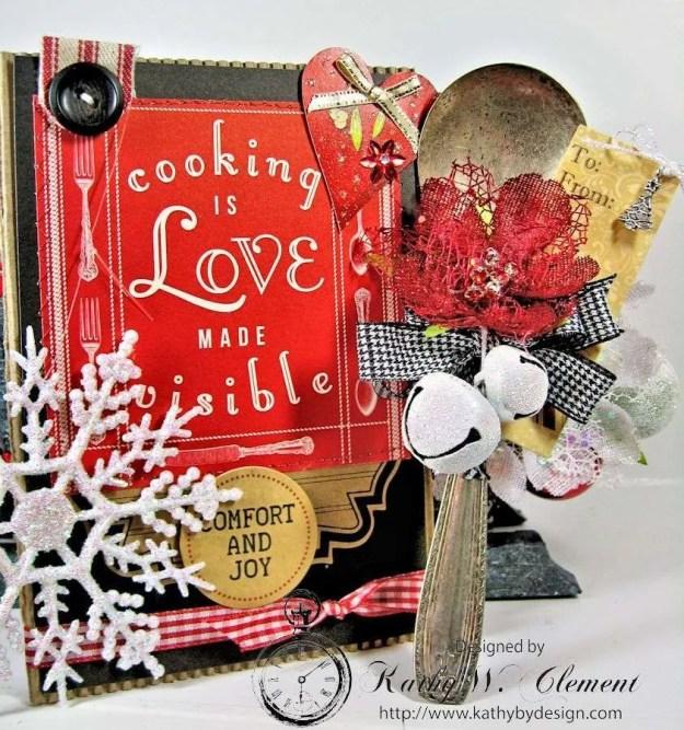 Santas sleigh recipe holder for CCB 06