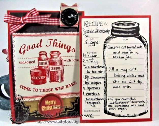 Santas sleigh recipe holder for CCB 07