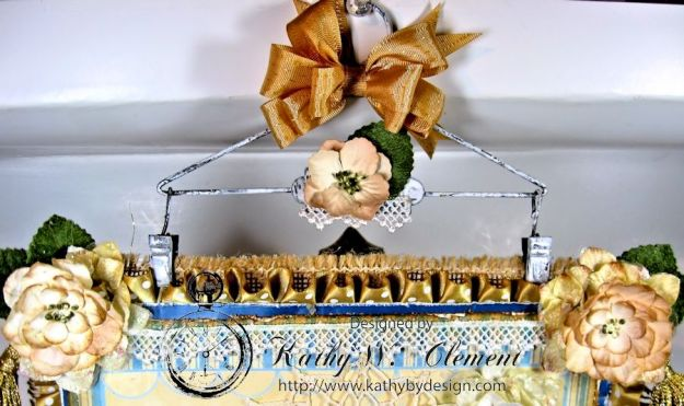 Shabby Chic Christmas Wall Hanging CS 07