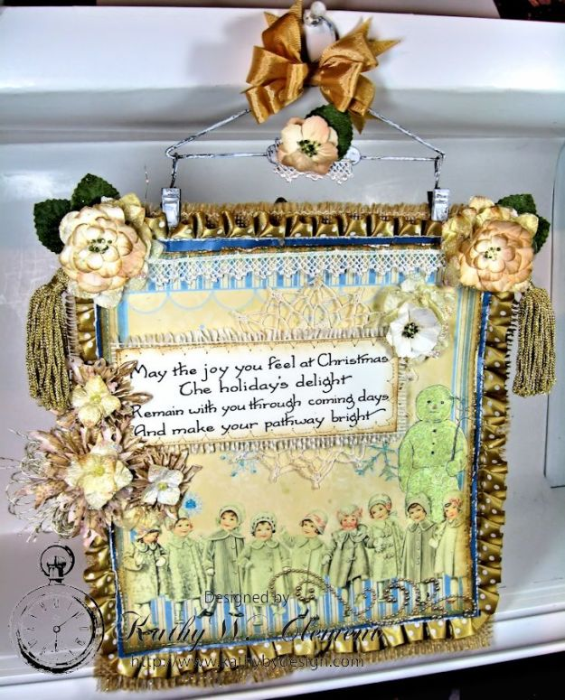 Shabby Chic Christmas Wall Hanging CS 09jpg