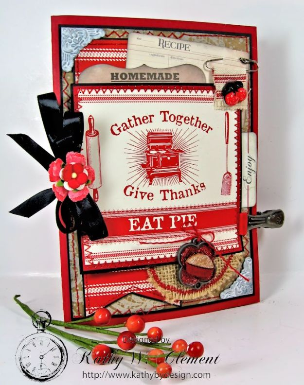 Kathy by Design/Thanksgiving Pie Tri-fold Mini