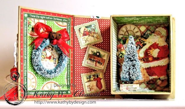 Kathy by Design Twas the Night Before Christmas book box with snowglobe 03