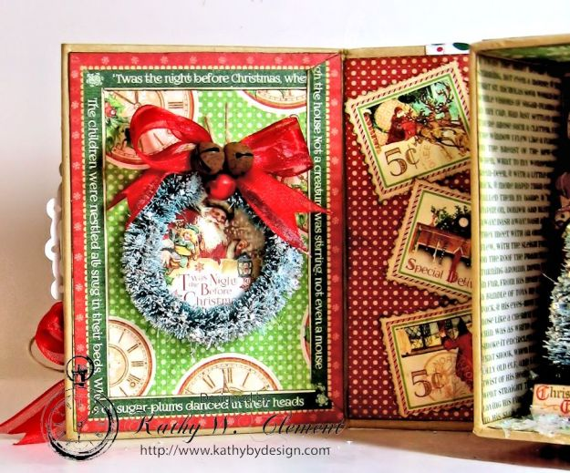 Kathy by Design Twas the Night Before Christmas book box with snowglobe 05