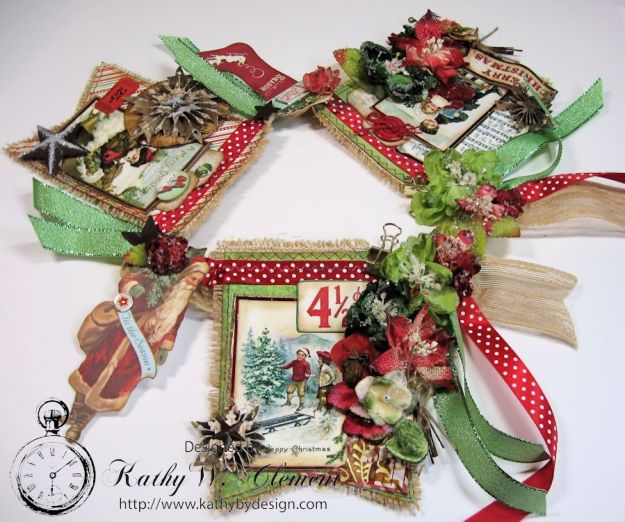 kathy by Design/Vintage Style Christmas Banner 01