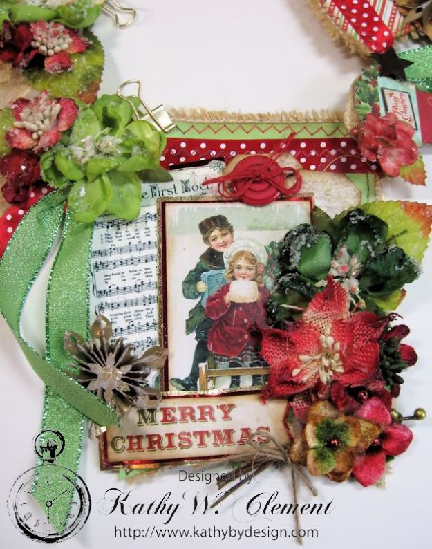 kathy by Design/Vintage Style Christmas Banner 04
