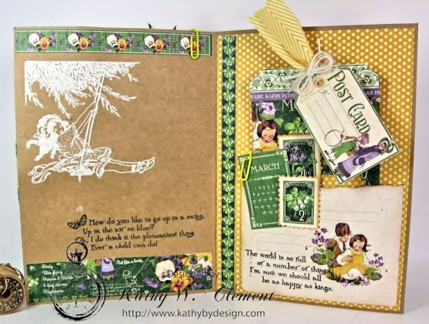 Hello Spring card for Frilly Funkie Layer it Up Challenge 05