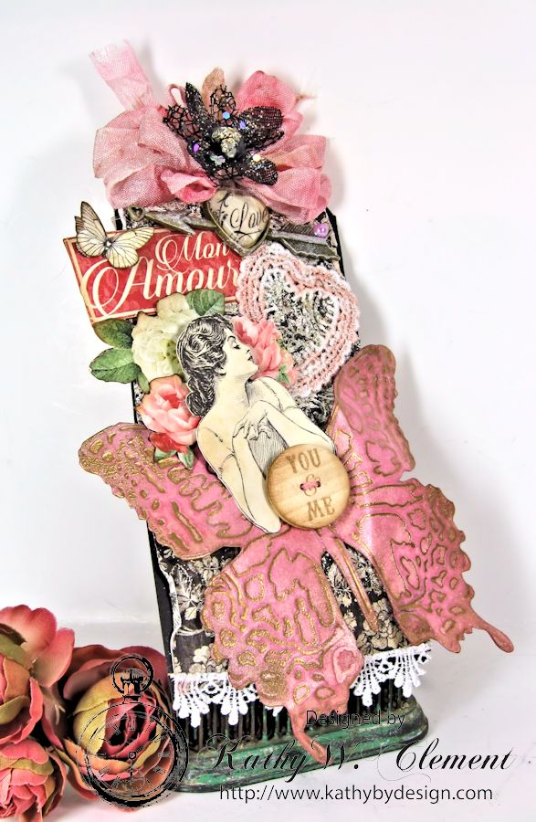 Mon Amour Embossed Tag for Frilly Funkie 02