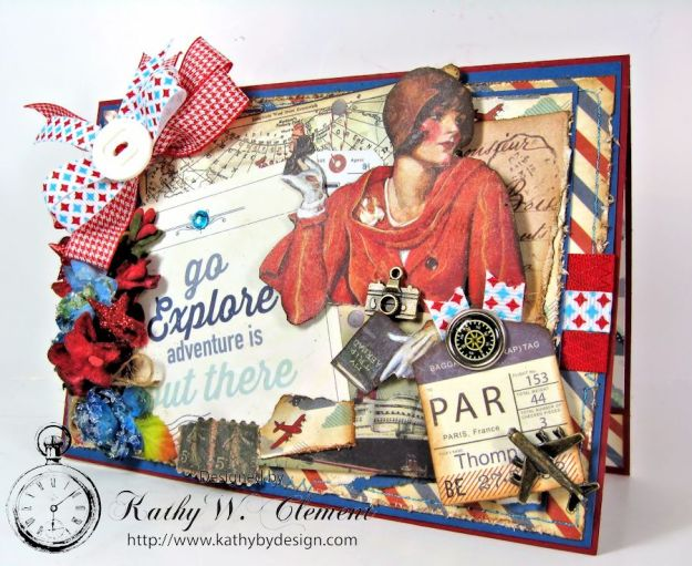 Authentique Explore Card with mini tag album 02