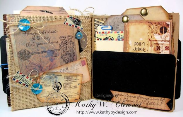 Wanderlust Junque Journal Kathy by Design 09