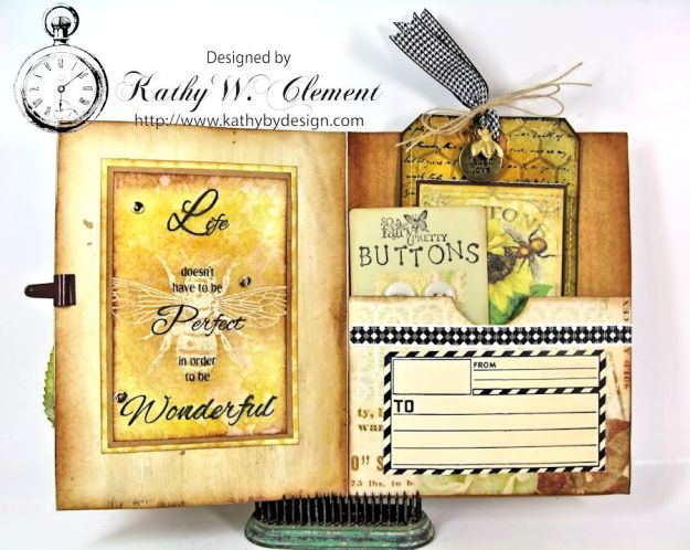 Bee Happy Card for RRR Things with Wings Challenge Kathy by Design 04