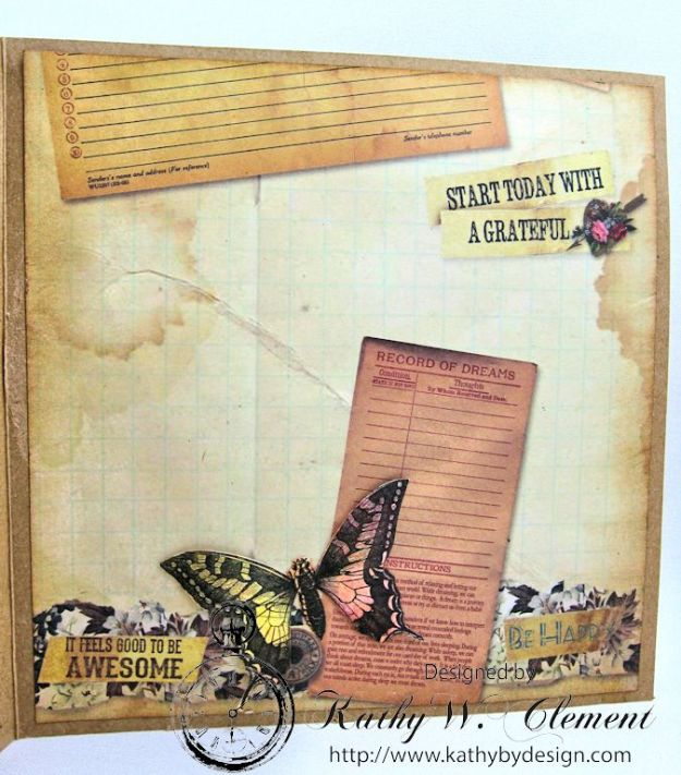 Butterfly Card Tutorial by Kathy Clement Canvas Corp Brands Mixed Media Papers and RRR June 2016 Ribbon Club Collection 07