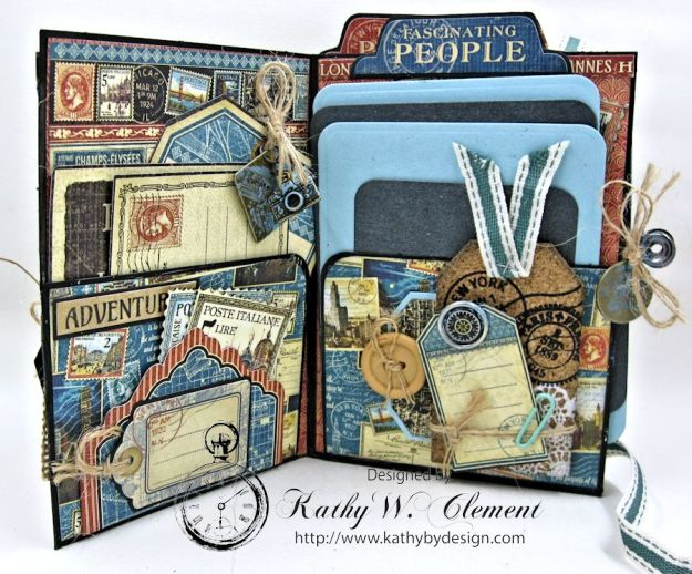 Oh the Places You'll Go Mini Album Frilly and Funkie Challenge by Kathy Clement 01