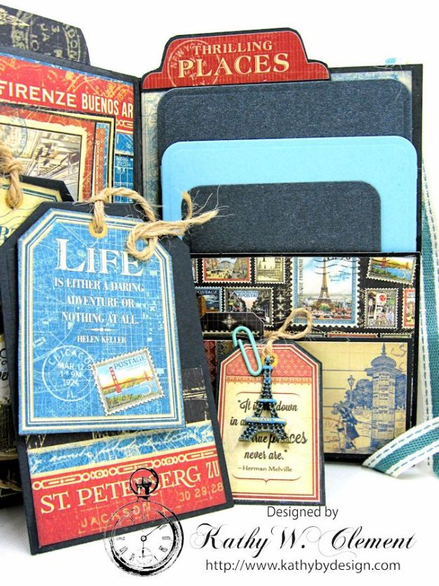 Oh the Places You'll Go Mini Album Frilly and Funkie Challenge by Kathy Clement 09