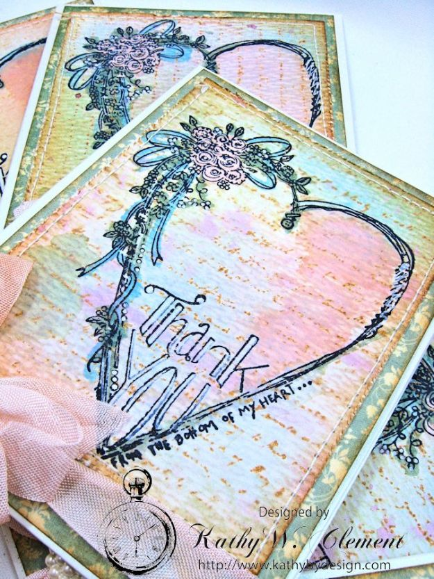 Tammy Tutterow Thank You Card designed by Kathy Clement for Frilly and Funkie Let the Words do the Talking Challenge 03