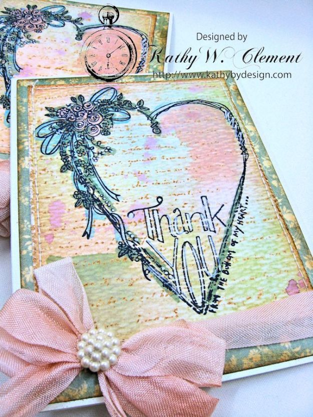 Tammy Tutterow Thank You Card designed by Kathy Clement for Frilly and Funkie Let the Words do the Talking Challenge 04