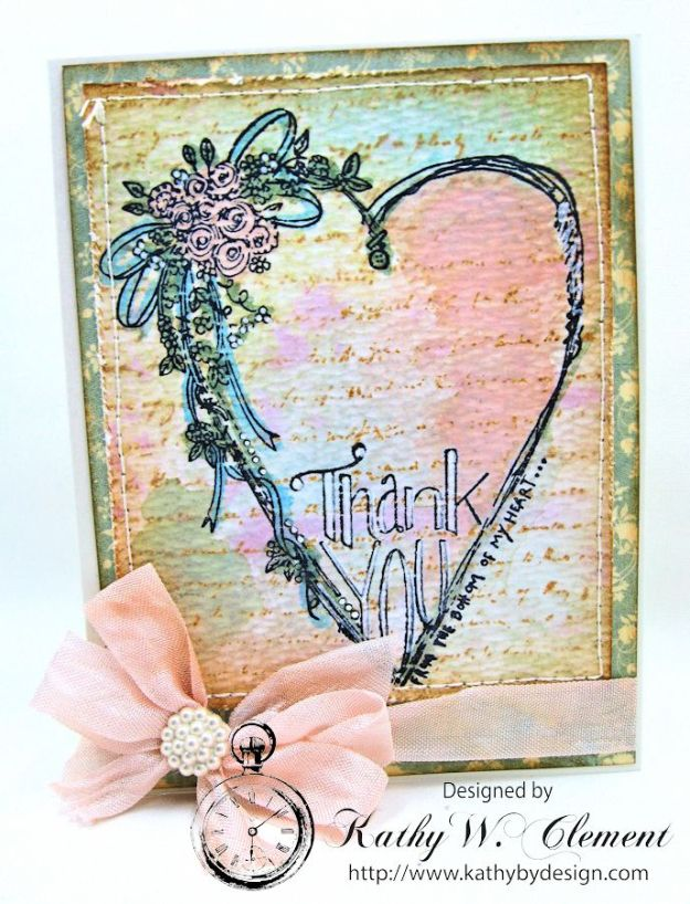 Tammy Tutterow Thank You Card designed by Kathy Clement for Frilly and Funkie Let the Words do the Talking Challenge 05