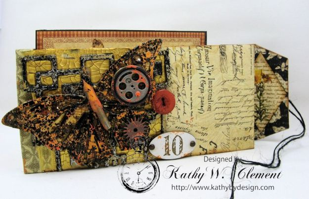 GSL Steampunk Butterfly Gift Wallet Tutorial by Kathy Clement for Gypsy Soul Laser Cuts Product by Graphic 45 DIY and Botanicabella Papers 05
