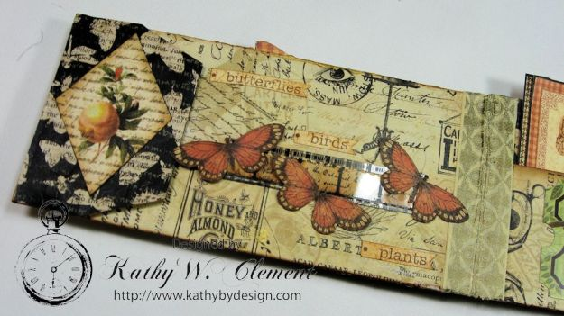GSL Steampunk Butterfly Gift Wallet Tutorial by Kathy Clement for Gypsy Soul Laser Cuts Product by Graphic 45 DIY and Botanicabella Papers 07