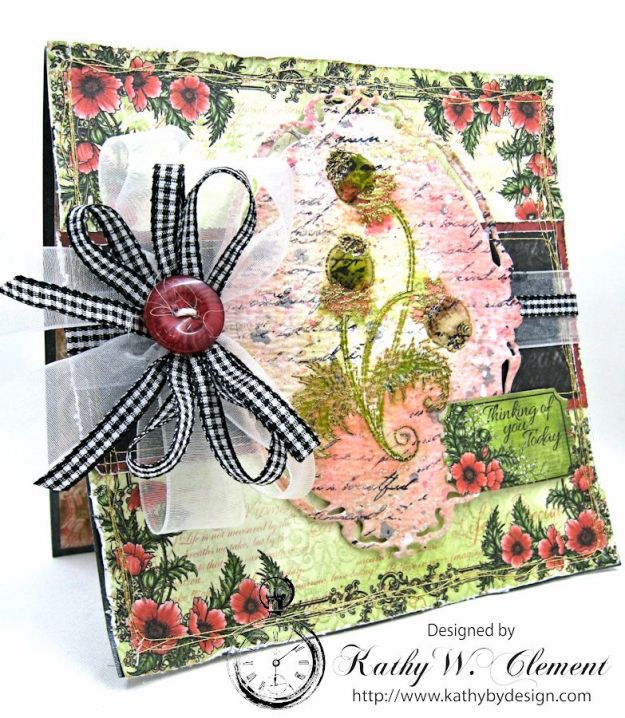 HC June Alumni Hop Blazing Poppy Card by Kathy Clement Photo 2