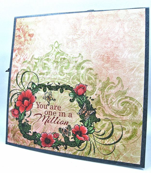 HC June Alumni Hop Blazing Poppy Card by Kathy Clement Photo 3