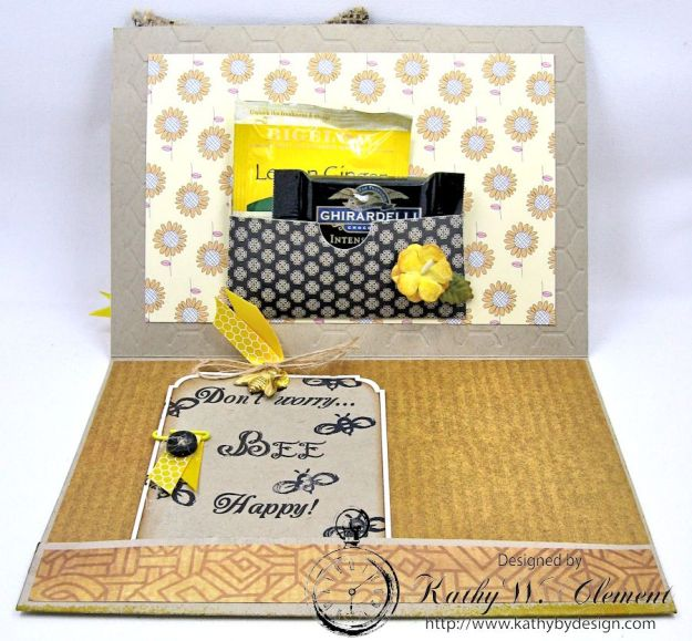 Orange Blossom Honey Gift Ensemble by Kathy Clement for Really Reasonable Ribbon Bees Knees Creativity Kit  from Polly's Paper Studio Etsy 03