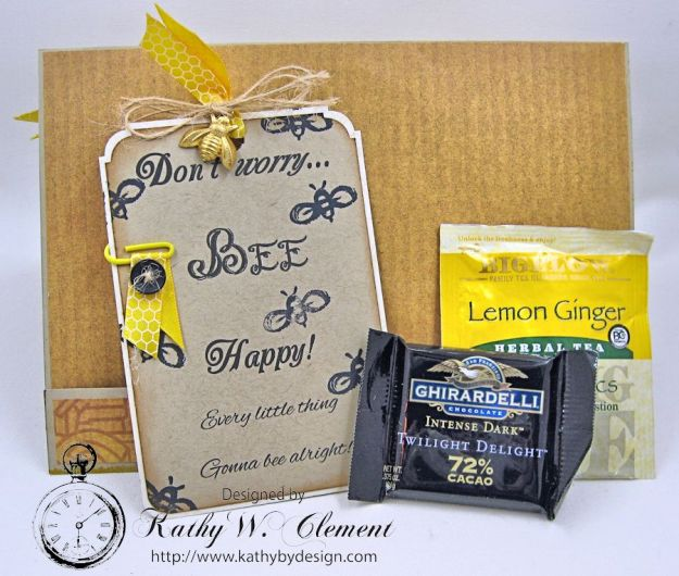 Orange Blossom Honey Gift Ensemble by Kathy Clement for Really Reasonable Ribbon Bees Knees Creativity Kit  from Polly's Paper Studio Etsy 04