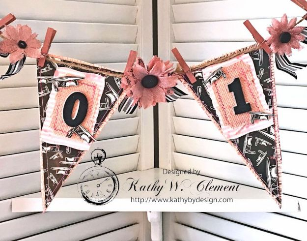 Pink and Black Graduation Banner by Kathy Clement for Petaloo International Canvas Corp Brands Grads and Dads Blog Hop 06