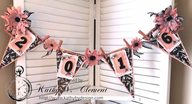Pink and Black Graduation Banner by Kathy Clement for Petaloo International and Canvas Corp Brands Dads and Grads Blog Hop 03