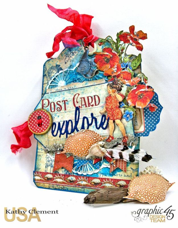 By the Sea Tag, Children's Hour, by Kathy Clement, Product by Graphic 45 Photo 3