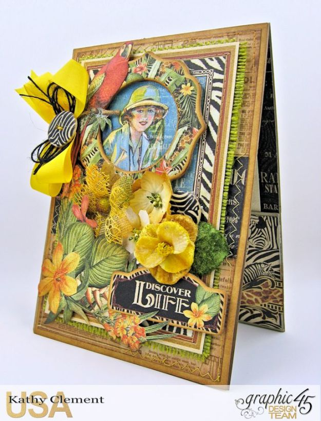 Safari Adventure Pocket Card Snapguide Tutorial by Kathy Clement Graphic 45 Safari Adventure Photo 2