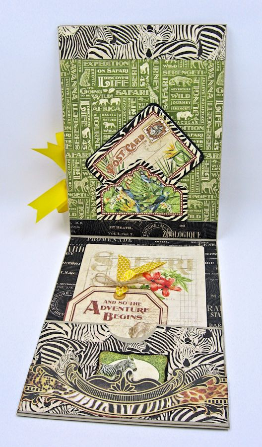 Safari Adventure Pocket Card Snapguide Tutorial by Kathy Clement Graphic 45 Safari Adventure Photo 6