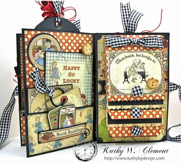 Petaloo Goes Back to School Mini Album, ABC Primer, By Kathy Clement, Product by Petaloo and Graphic 45 Photo 5