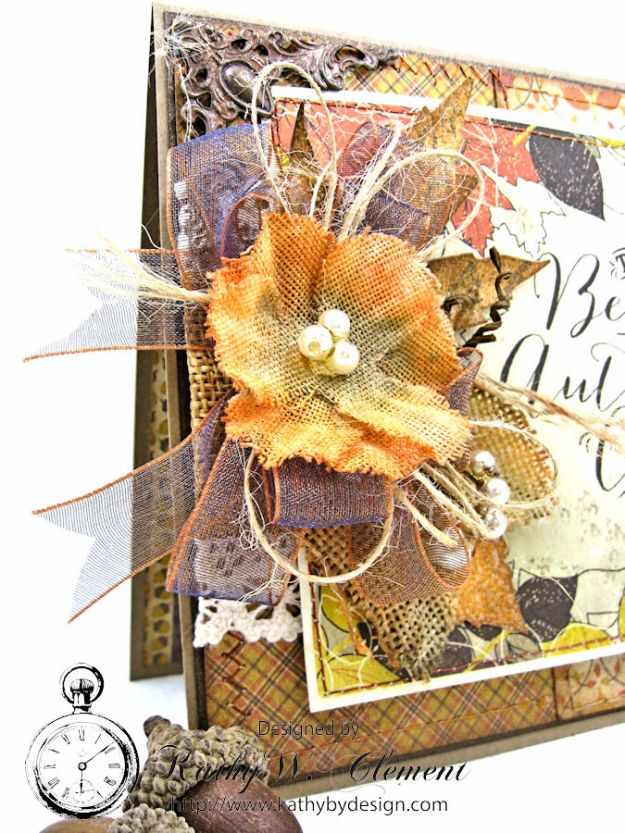 Beautiful Autumn Colors Card, Harvest, by Kathy Clement for RRR Autumn Colors Challenge, Product by Authentique, Photo 2