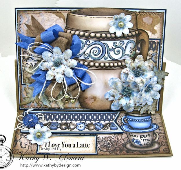 Coffee Talk Easel Card Tutorial, Coffee Talk, by Kathy Clement, Product by Heartfelt Creations Photo 1