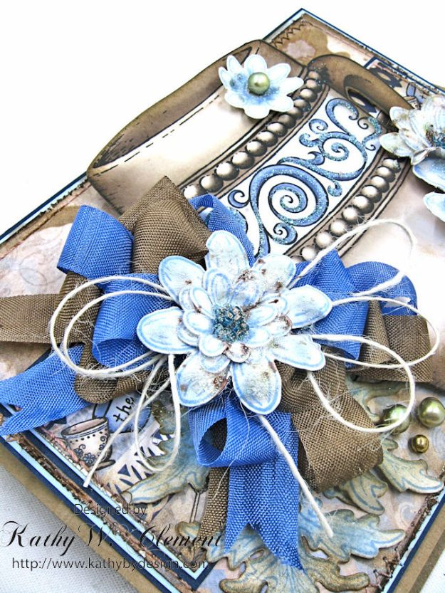 Coffee Talk Easel Card Tutorial, Coffee Talk, by Kathy Clement, Product by Heartfelt Creations Photo 5